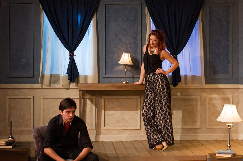 Brennan MacGreggor and Afton Rentz in The Misanthrope. Photo credit: RADGRANDPA Photography