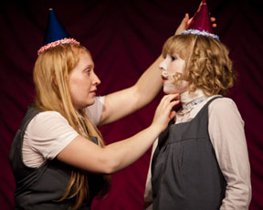 Ocean (Rielle Braid) and Jane (Sarah Jane Pelzer) in Ride the Cyclone