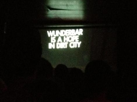 Projected on the wall during Rich Aucoin's show at Wundi this October.
