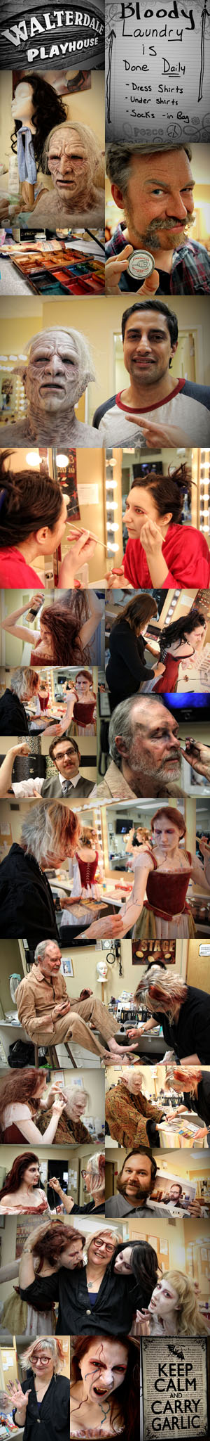 Behind the scenes of Dracula at Walterdale Playhouse.  Photos taken by Nanc Price